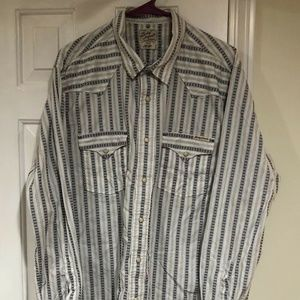 Lucky Brand Western Long Sleeve Shirt Mens Large